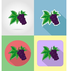 Fruits flat icons 11 vector