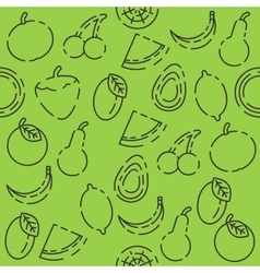 Fruits set pattern vector