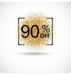 gold big sale background in frame vector image