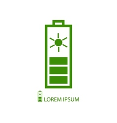 Green solar battery vector image