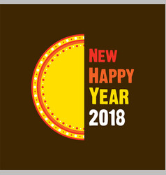 happy new year 2018 design vector image