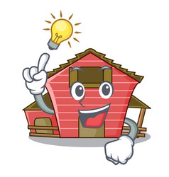 Have an idea red storage barn isolated on mascot vector