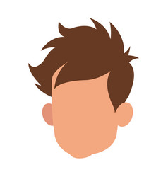 head faceless male young hair style vector image