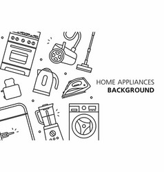home appliances background vector image