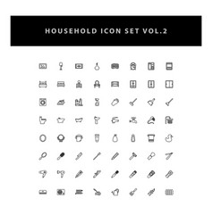 household appliances icons set vol 2 with outline vector image