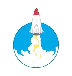 Launch a space rocket vector
