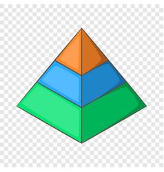 Layered pyramid icon cartoon style vector