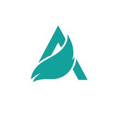 Letters a logo design template elements eco vector