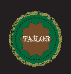 logo tailor vector image