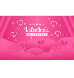 Lovely happy valentines day greeting banner backg vector