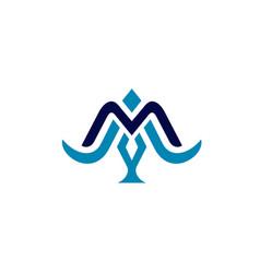m bird logo vector image