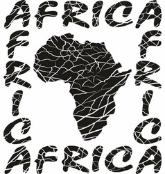 Map africa - background with text and texture vector