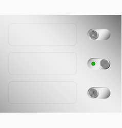 metal switches or switches aluminium control vector image