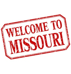 Missouri - welcome red vintage isolated label vector