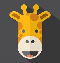 Modern Flat Design Giraffe Icon vector image