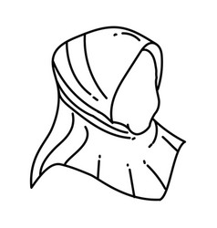 Muslim women icon doodle hand drawn or outline vector