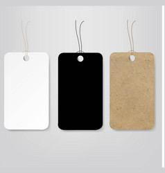Old paper prise tag set isolated vector