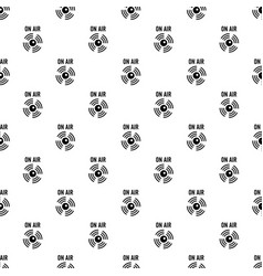 on air radio pattern seamless vector image