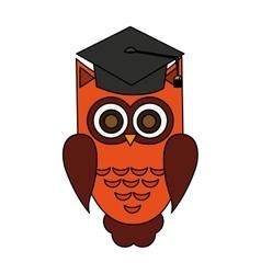 owl cartoon icon vector image