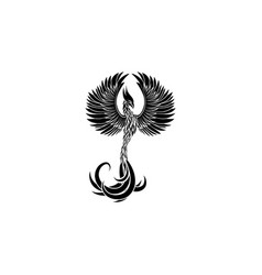 phoenix icon black on white background vector image