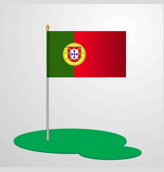 portugal flag pole vector image