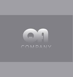 Qa q a pastel blue letter combination logo icon vector