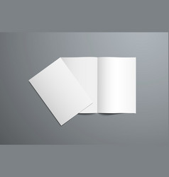 realistic mockup open and closed bi-fold vector image