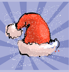 Red santa s hat with blue vector