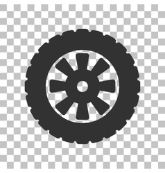 Road tire sign Dark gray icon on transparent vector