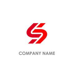 s initial company logo vector image