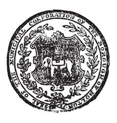 seal wich represent bolton or bolton le moors vector image vector image