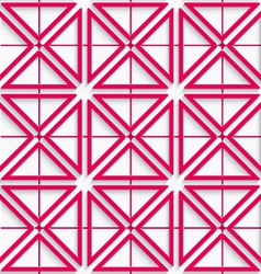 Seamless abstract background of pink 3d net with vector