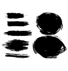 set artistic brush vector image