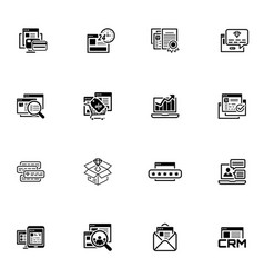Shopping and marketing icons set vector