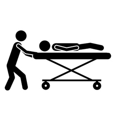sick or injured patient icon image vector image
