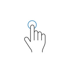 single tap line icon touch and hand gestures vector image