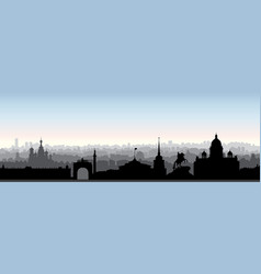 st petersburg city skyline russia tourist vector image