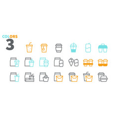 take out ui pixel perfect well-crafted thin vector image
