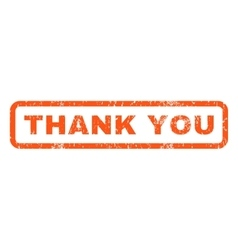 Thank You Rubber Stamp vector image