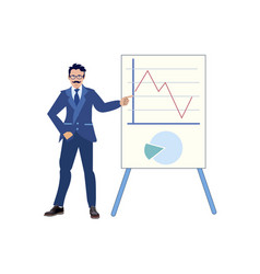 The businessman made a report on work done vector
