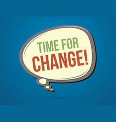 time for change text in balloons vector image