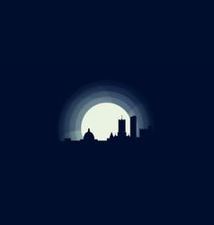 Uk cardiff skyline silhouette vector