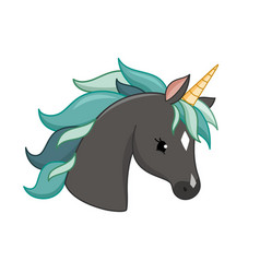 Unicorn icon isolated on white head vector