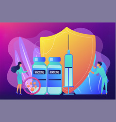 Vaccination program concept vector