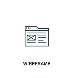 wireframe icon thin outline style design from vector image