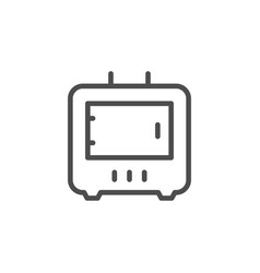 Wood burning stove line outline icon vector
