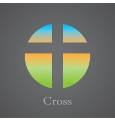 cross within a circle vector image