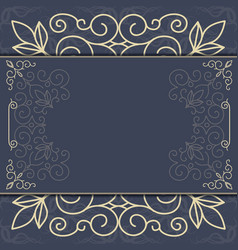 Elegant ornate background ornament for invitations vector image vector image