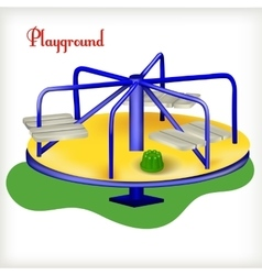 playground isolated on the white vector image