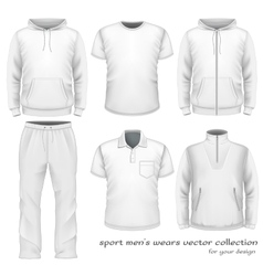 Sport men wear collection vector image vector image